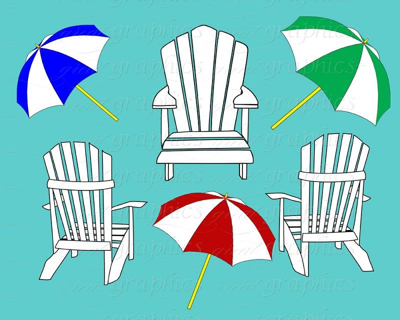 Beach Chair Clip Art Beach Umbrella Clip-Beach Chair Clip Art Beach Umbrella Clip Art Digital Clipart-3