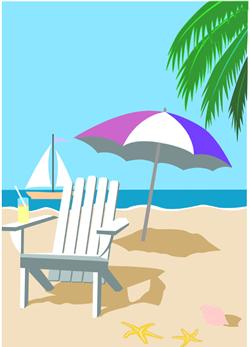 Beach Chair Clip Art Beach Umbrella Grap-Beach Chair Clip Art Beach Umbrella Graphic-0