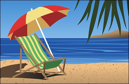 Beach Chair Vector Free-Beach Chair Vector Free-7