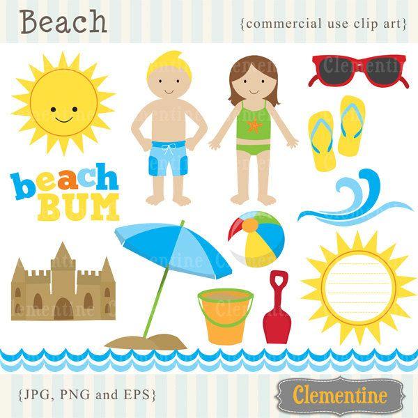Beach Clip Art Images, Beach Clipart, Su-Beach clip art images, beach clipart, summer clip art, beach vector, royalty-2