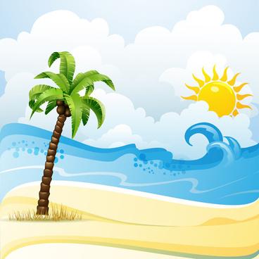 Cartoon clouds beach. Clipart clipartlook