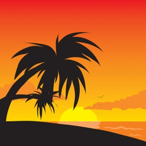 Beach Clipart Image Tropical .