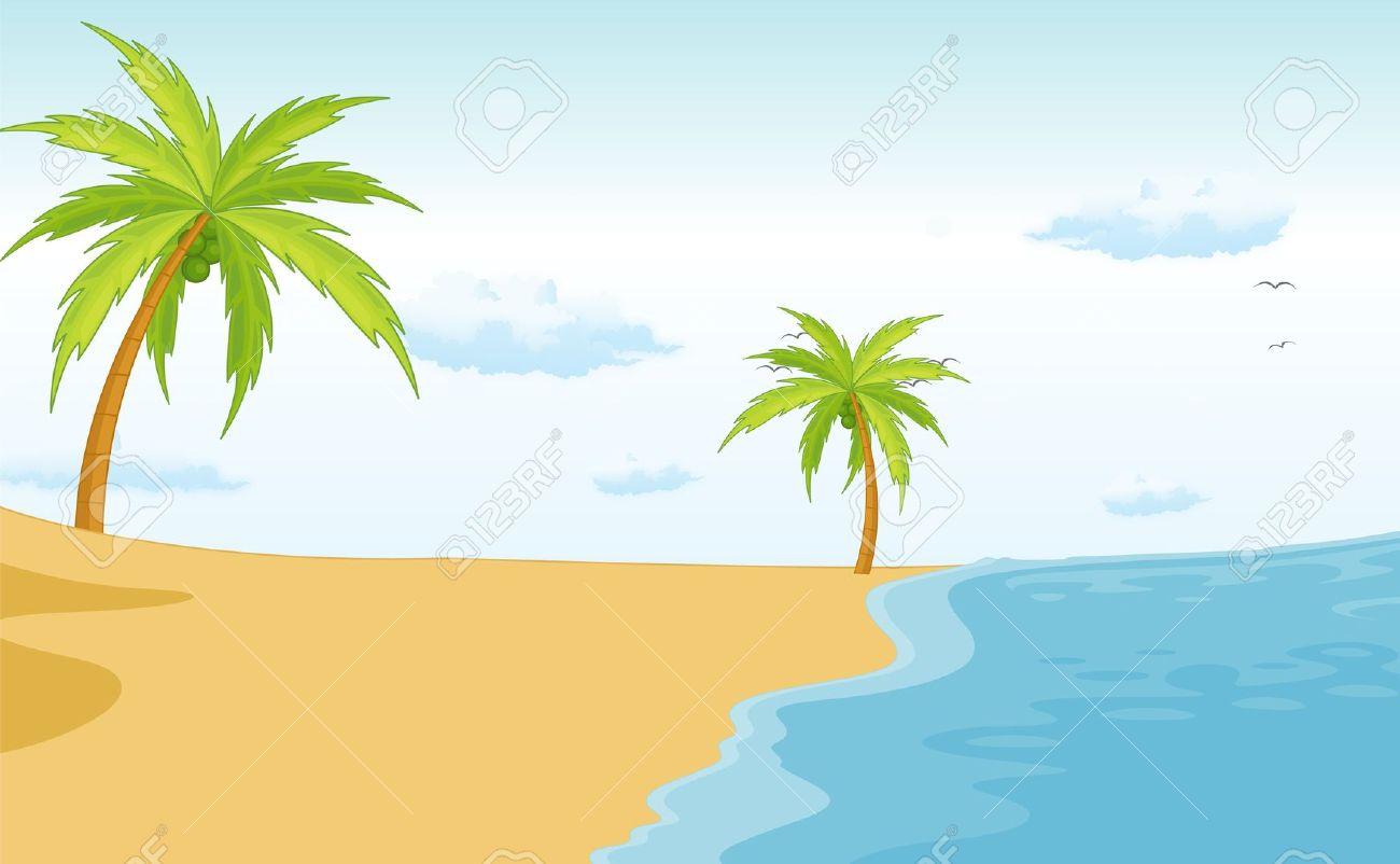 Beach Scene Clipart