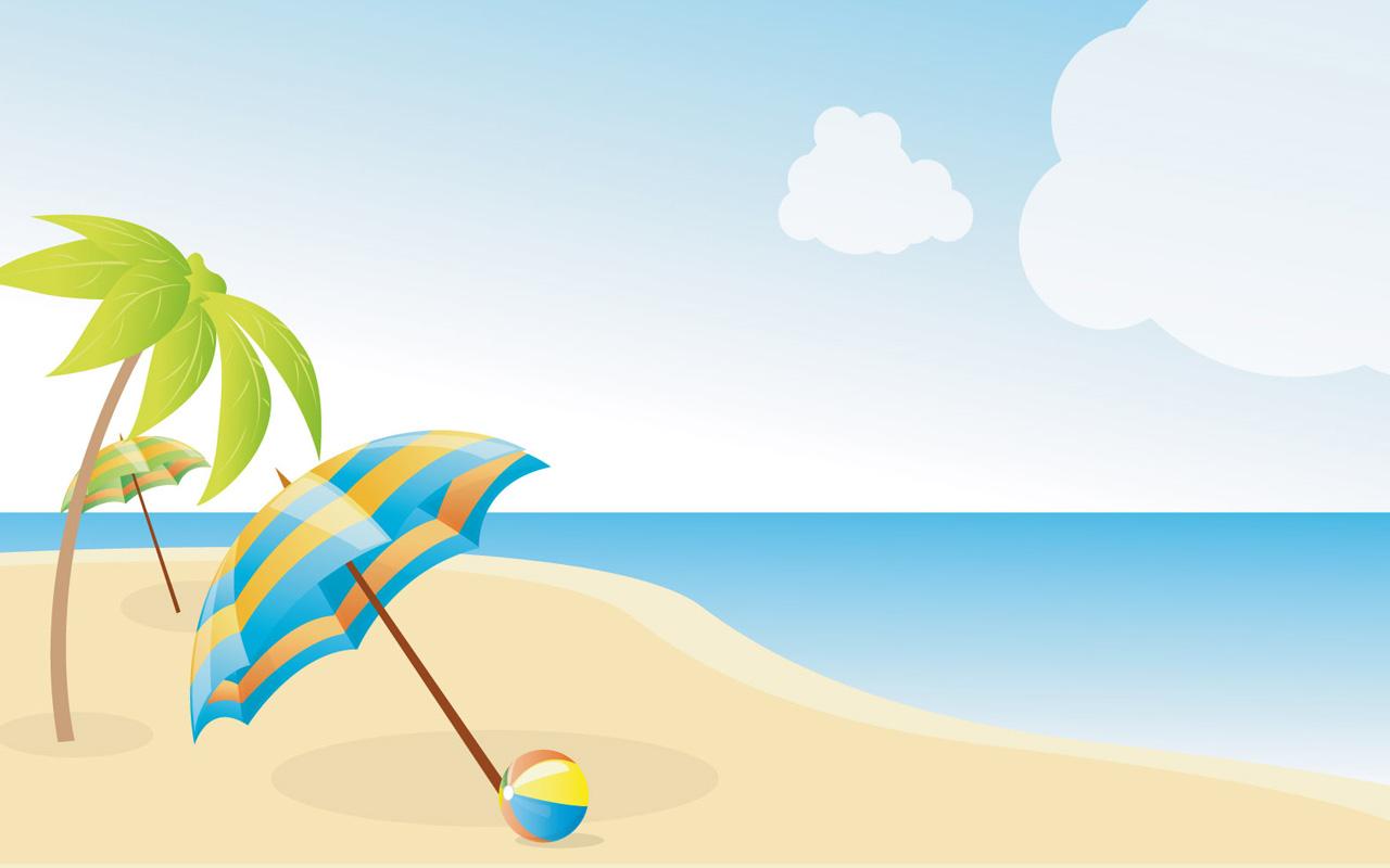 Beach Scene Clipart - Clipart .