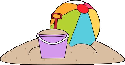 Beach Toys Clip Art Image .