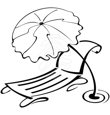 Beach Umbrella Clipart Black And White Clipart Panda Free Clipart