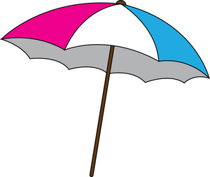 Beach Umbrella Clipart Image: .