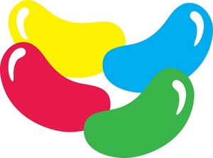 Bean Clip Art - Jelly Bean Clipart
