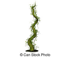 ... Beanstalk - Isolated 3D Illustration of a bean stalk