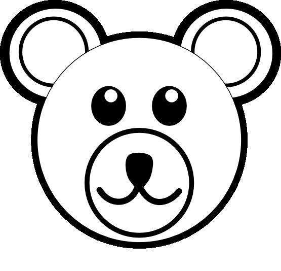 Bear Face Clip Art