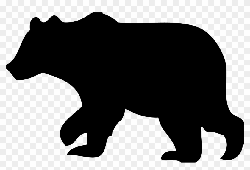Black Bear Clipart Outline - Black Bear -Black Bear Clipart Outline - Black Bear Silhouette Clip Art #345627-7