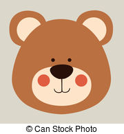 ... bear design over beige background vector illustration