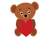 bear holding valentines day heart animated clipart. Size: 316 Kb