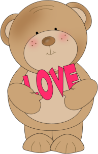 Bear Love - Love Clipart