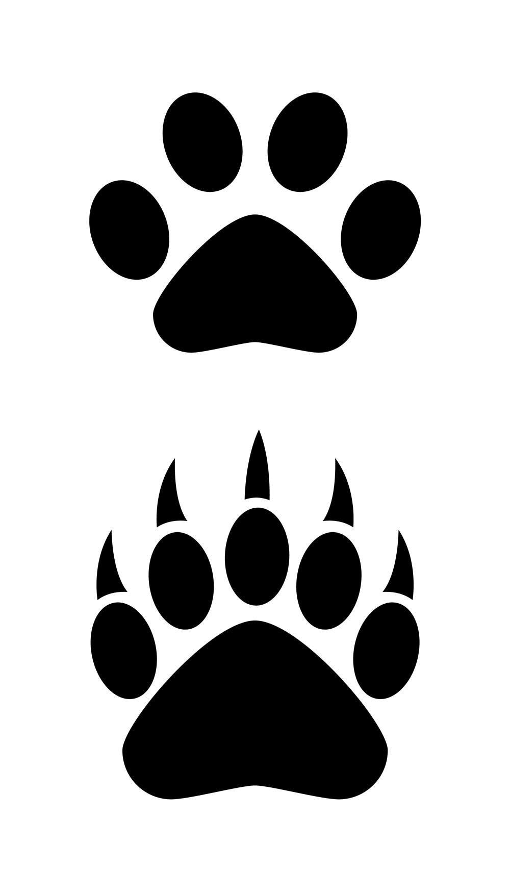 ... Bear paw clipart silhouette ...