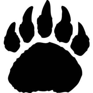 Bear paw print clip art .