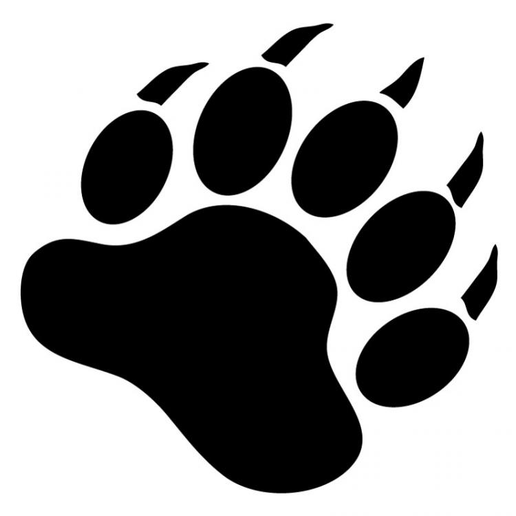 Bear paw stencil free download clip art on