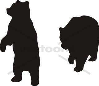 Bear Silhouette Standing Walking - Bear -Bear Silhouette Standing Walking - Bear - Animals - Buy Clip Art | Buy Illustrations Vector | Royalty Free-6