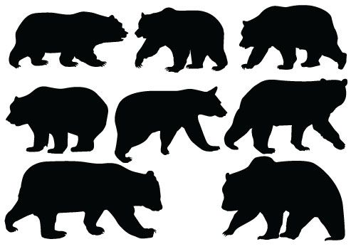 Bear Silhouette Vector - Quality Vector -Bear Silhouette Vector - Quality Vector SilhouetteSilhouette Clip Art | ANIMAL VECTOR GRAPHICS | Pinterest | Coloring, Clip art and Search-7