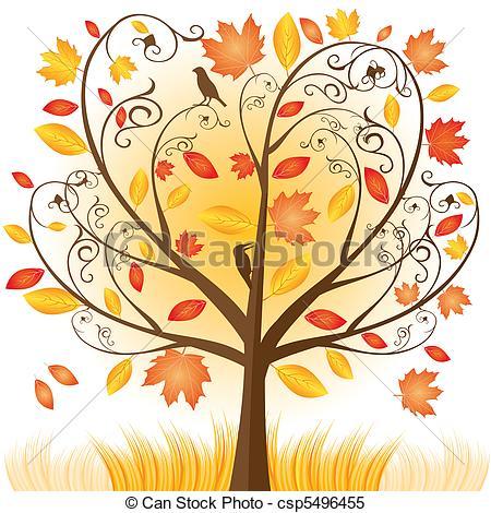 Beautiful Autumn Tree With .-Beautiful autumn tree with .-3