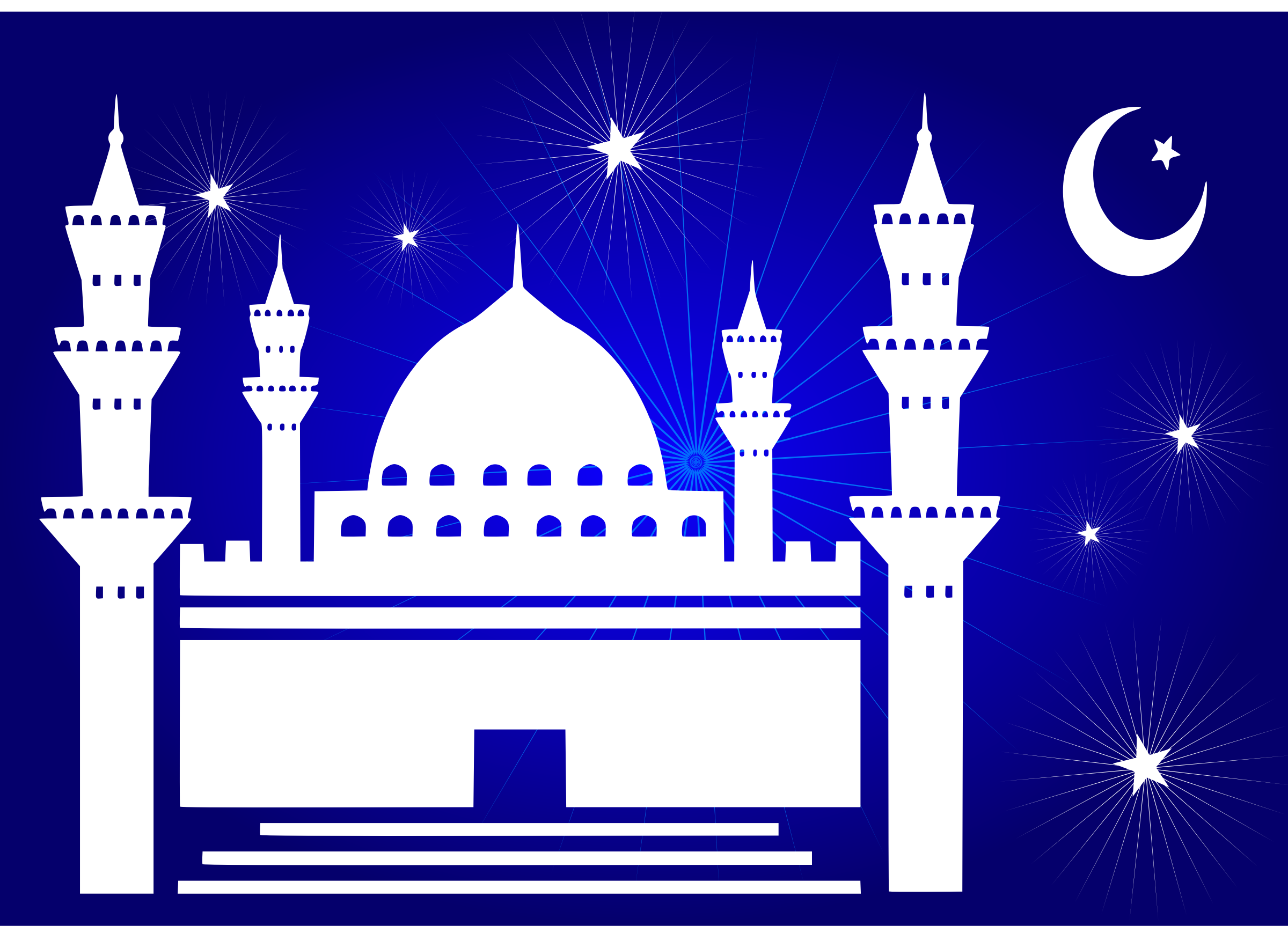 Beautiful Mosque - Mosque Clipart