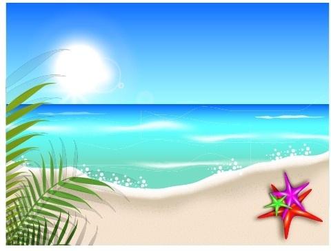 Beautiful Summer Beach Background-beautiful summer beach background-10