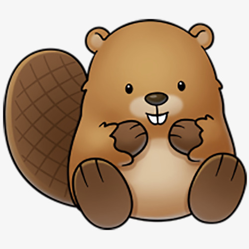 brown cute beaver, Cute Clipart, Beaver Clipart PNG Image and Clipart