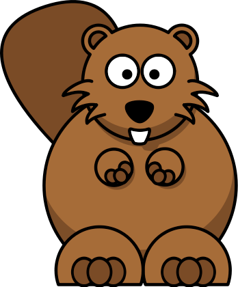 Cartoon Beaver Clipart #1