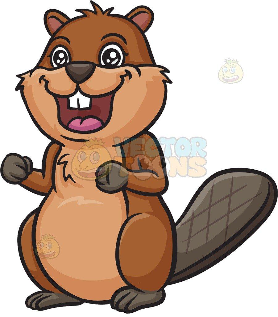 Eager Beaver Cartoon Clipart