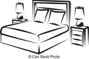 ... Bedroom - Simple Vector Illustration-... bedroom - Simple vector illustration of a bedroom interior-8