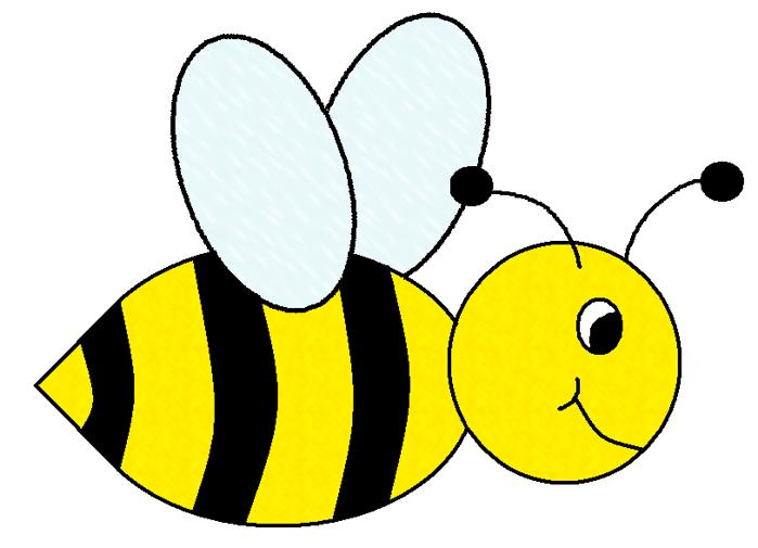 bee clipart black and white