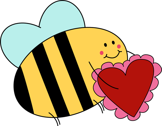 Bee Carrying Valentine Heart