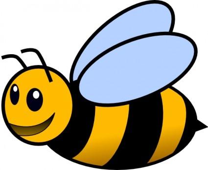 Bee clip art Free vector in .