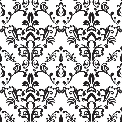 Bee Damask Pattern Clipart