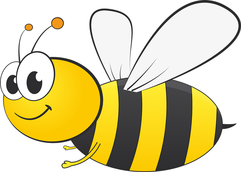 Bee free to use clipart