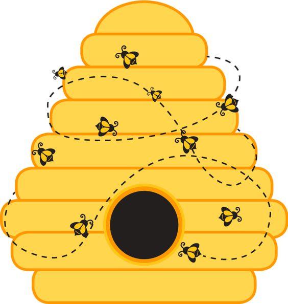 Bee Hive Template Printable .
