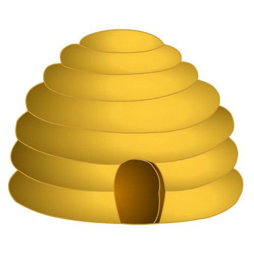 Bee Honeycomb Clipart #1