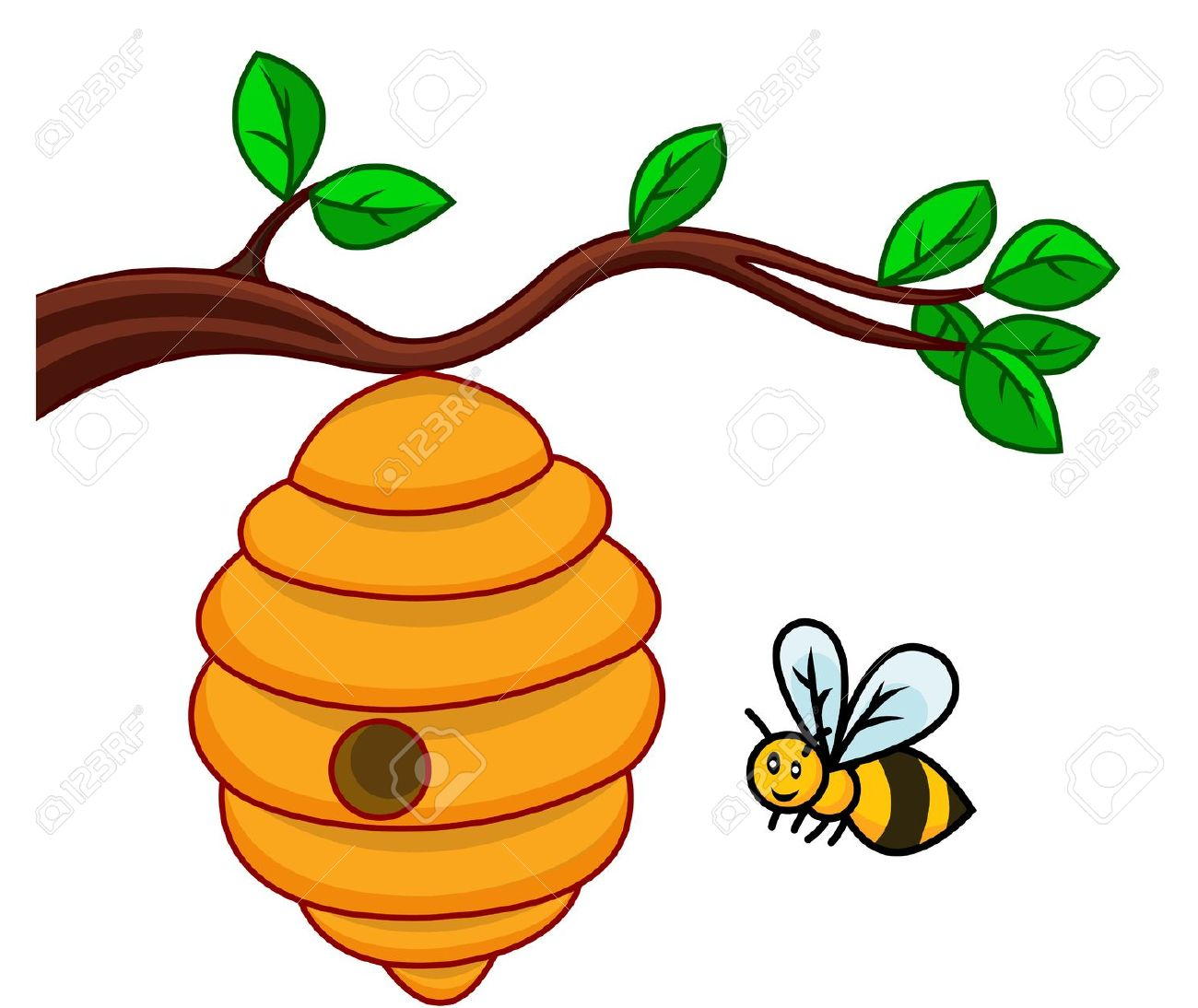 beehive clipart. beehive: illustration of .