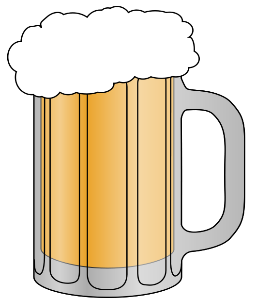 Beer glass clipart free - .