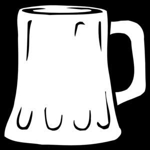 Beer Mug Black And White Clip Art At Clker Com Vector Clip Art