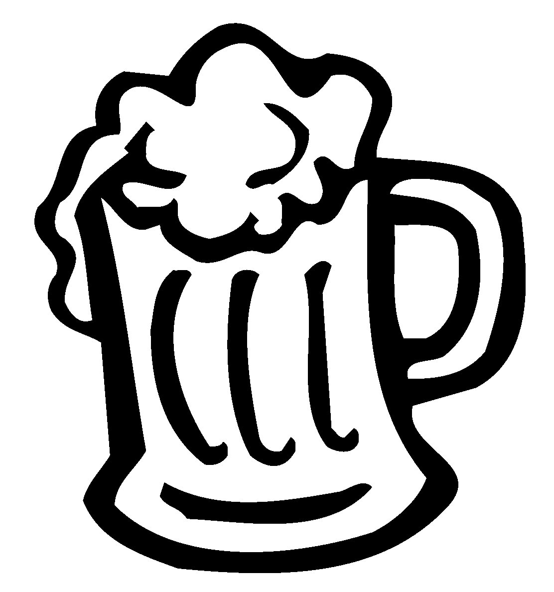 Beer Mug Decal Beer Mug Sticker