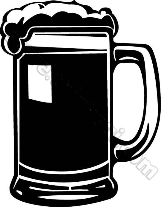 Beer Mug Illustration Black And White Food And Drink Beer Mug Mug