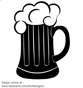 Beer mugs clipart black and .