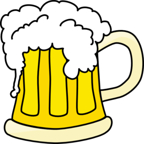 ... foamy mug of beer clip ar