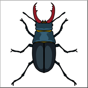 Clip Art: Insects: Stag Beetle Color I A-Clip Art: Insects: Stag Beetle Color I abcteach clipartlook.com - preview 1-3