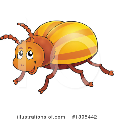 Royalty-Free (RF) Beetle Clipart Illustration #1395442 by visekart