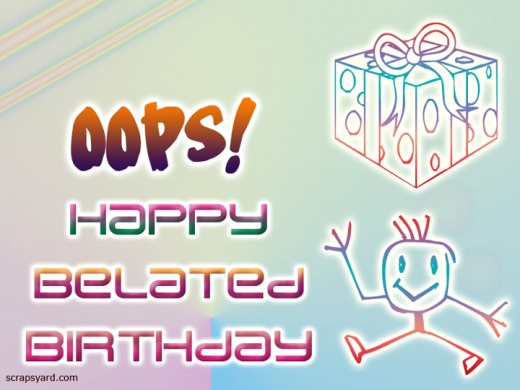 Belated Birthday Clipart