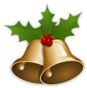 Bells With Holly clip art .