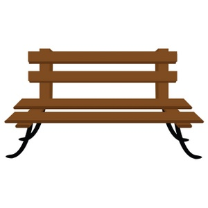 Bench Clipart Image Wooden Pa - Park Bench Clipart