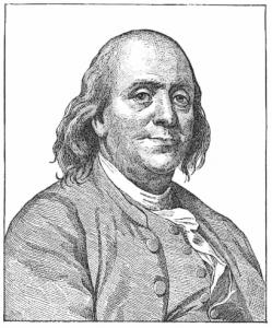 Benjamin Franklin 1783 Clipart